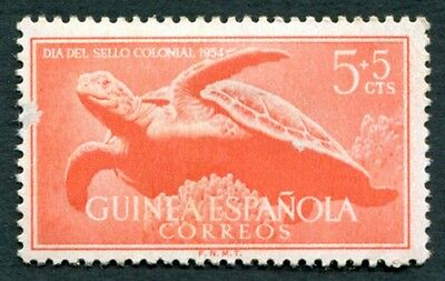SPANISH GUINEA 1954 5c+5c orange-red SG391 mint MH FG Colonial Stamp Day #W22