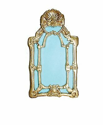 Dolls House 1/12  Victorian Mirror With Ornate Gilt Frame