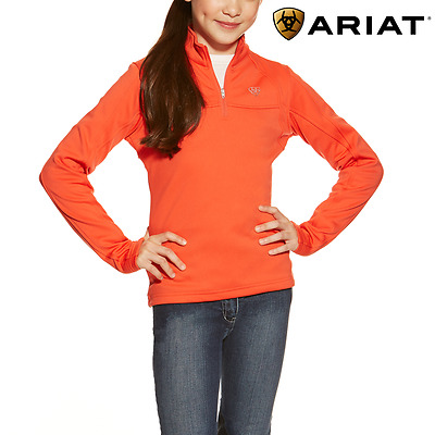 Ariat Girls Conquest 1/4 Zip Top **FREE UK Shipping**