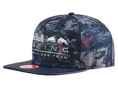 Official 2017 Puma Red Bull Racing F1 Team New Block Cap All Over Blue 021165-02