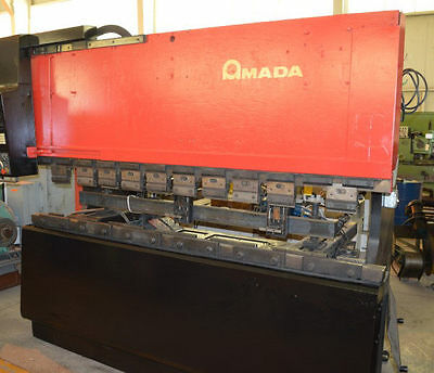 "88 Ton Amada Cnc ""fbd 8025E"" 3-Axis Up-Acting Hydraulic Press Brake - #28081"
