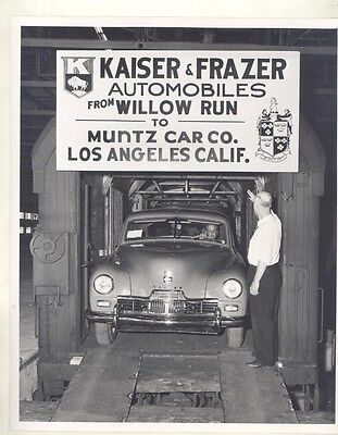 1947 Kaiser Frazer Willow Run Muntz LA ORIGINAL Factory Photo Press Sheet ww7834