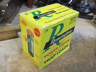 REMINGTON POWER PISTON TRAP LOADS empty 12 GA SHOTGUN SHELL box ORIGINAL