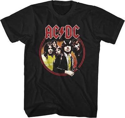 AC/DC Highway To Hell Band Photo Adult T Shirt Heavy Metal Music