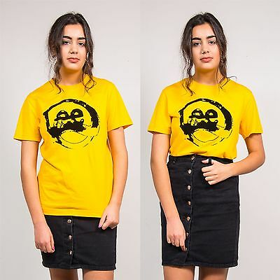 Lee Womens Vintage Yellow Crew Neck T-Shirt Top Short Sleeve Casual 90's 8 10