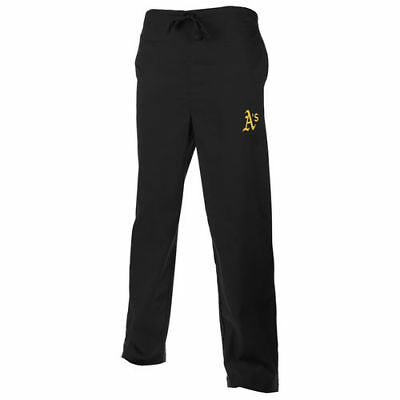 Oakland Athletics Unisex Scrub Pants - Black - MLB