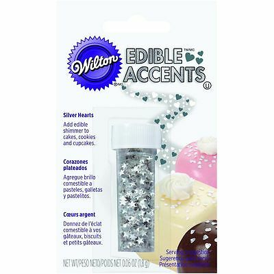 Wilton Sparkling Silver Stars Edible Glitter For Cupcake Cookie Cake Decorating