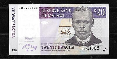 MALAWI #52d 2007 UNC MINT 20 KWACHA CURRENCY BANKNOTE BILL NOTE PAPER MONEY