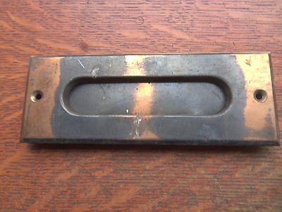 Antique Vintage Copper Flashed Victorian Craftsman Mailbox Outer Cover Plate
