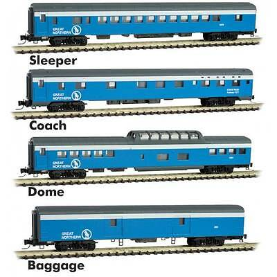 MTL 994-01-160 Z Scale Great Northern Sky Blue PASSENGER CAR 4-PACK
