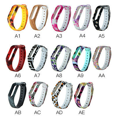 Pattern Replacement Wristband Sport Fitness Bracelet Strap For Xiaomi Mi Band 2