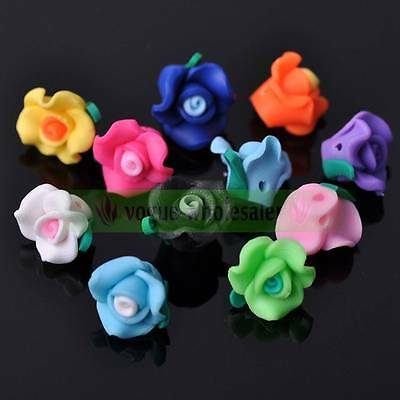 10pcs/50pcs 12mm Polymer Clay Fimo Flower Loose Spacer Beads Wholesale Lot