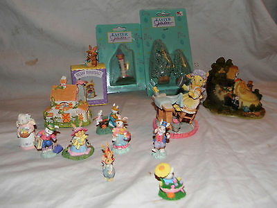 Misc Lot Easter Decorations Easter Tree Easter Lamp Post Hallmark Merry Miniatur