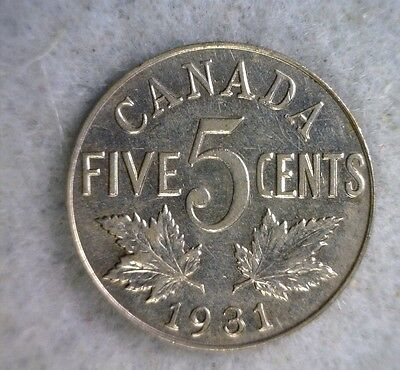 CANADA 5 CENTS 1931 COIN (stock# 0683)