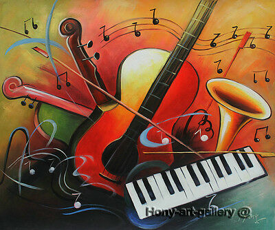 Handmade Modern Art Music abstract Oil Painting Canvas Home Wall Room Decor 2202