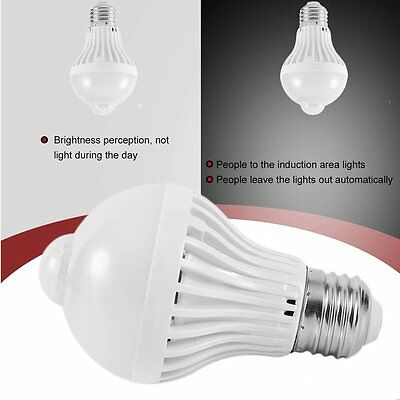 LED Motion Sensor Lamp Bulb Infrared Body Lamp Night Light For Stair Hallway XRA