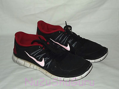 NIKE Free 5.0 Black/Red/White Running Sneakers Mens Size 12