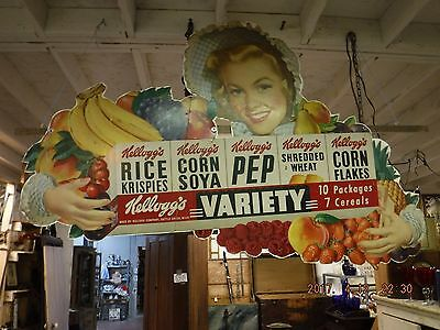 1950 Kellogg's RARE cereal  corn flakes advertising sign