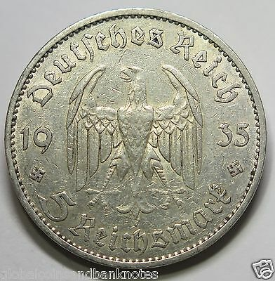 "Germany - 1935.A Silver 5 Mark "" Church + No Date Reserve"""