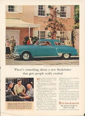Something gets people excited Studebaker ad 1947 Time