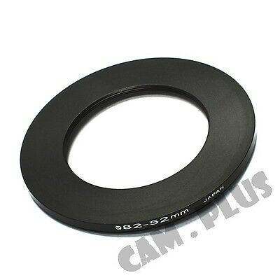 82-52mm Step-Down Metal Lens Adapter Filter Ring / 82mm Lens to 52mm Accessory