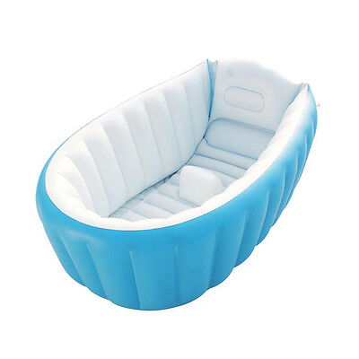 New Portable Safe Baby Kids Toddler Summer Thick Inflatable Bath Tub