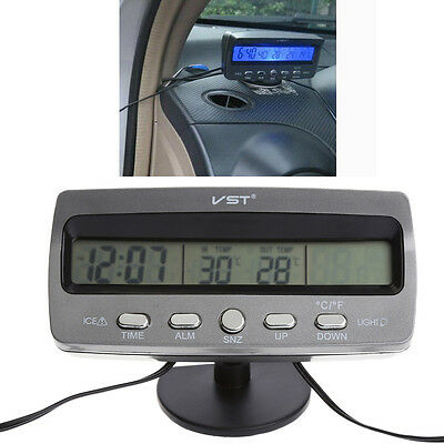 Multi-functional VST7045V Car Thermometer Clock Voltmeter Temperature Calendar