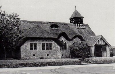(aj57) Wight Freshwater Bay Thatched Church PC