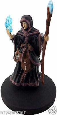 D&D MINI HUMAN WIZARD (Female Mage) MM2 Dungeons & Dragons Pathfinder  Miniature