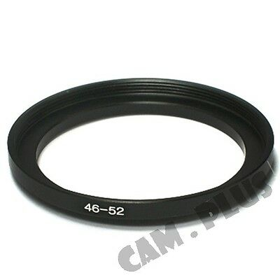 46-52mm Step-Up Metal Lens Adapter Filter Ring / 46mm Lens to 52mm Accessory