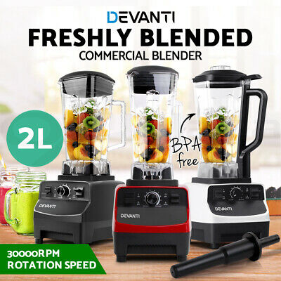 Devanti Commercial Blender Food Processor Blender Mixer Juicer Smoothies