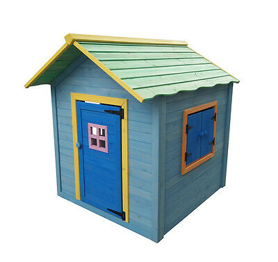 Childrens Wooden Play House Painted Wendy Timber  Kids Outdoor Den Hideaway