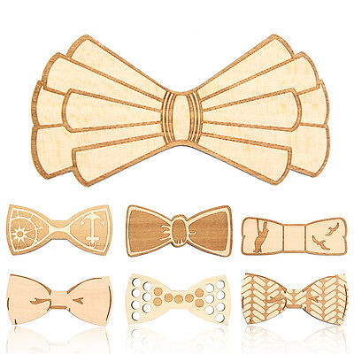 Magnetic Wooden Bow Tie Bowknot Natural Wood Bowtie Wedding Party Gifts Party