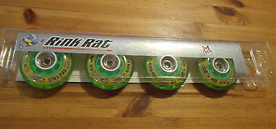 Rink Rat M-Tech Roller Hockey Wheels Indoor Hornet Green 68 MM Grip Speed 62 76