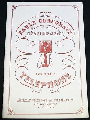 At&t The Early Development Of The Telephone Souvenir Brochure 1959 Vintage