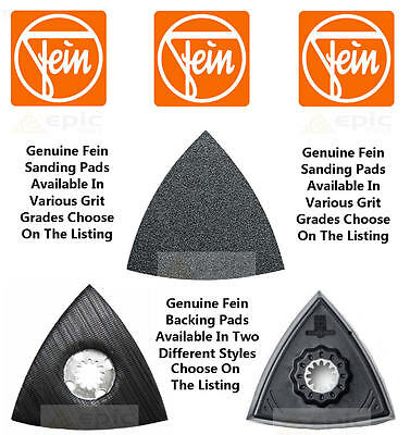 Genuine Fein Multi Tool Sanding Pads 50 Pack All Grades Available or Backing Pad