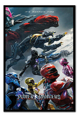 Framed Power Rangers Charge Poster New