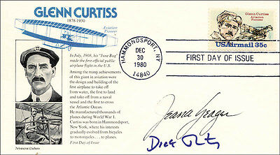 The Voyager Crew - First Day Cover Signed Co-Signed By: Jeana Yeager, Dick Rutan