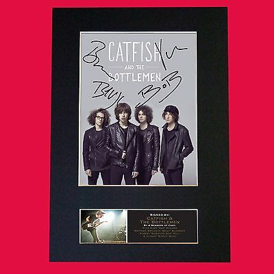 CATFISH AND THE BOTTLEMEN  Band Signed Autograph Mounted Photo RE-PRINT A4 648