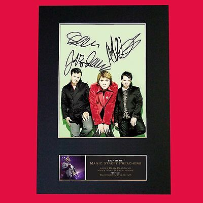 MANIC STREET PREACHERS  Band Signed Autograph Mounted Photo RE-PRINT A4 652