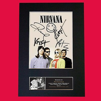 NIRVANA No2 Band Signed Autograph Mounted Photo RE-PRINT A4 655
