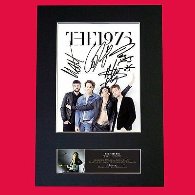 THE 1975 Band Signed Autograph Mounted Photo RE-PRINT A4 658