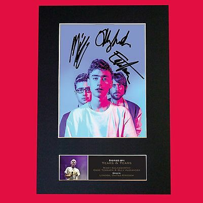 YEARS AND YEARS Band Signed Autograph Mounted Photo RE-PRINT A4 659