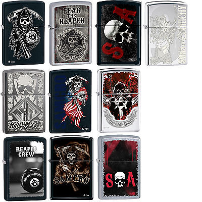 Zippo SOA Sons of Anarchy SOA SAMCRO 10 Lighter Set Rare