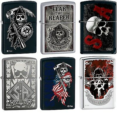 Zippo Sons of Anarchy SAMCRO 6 Lighter Set Rare