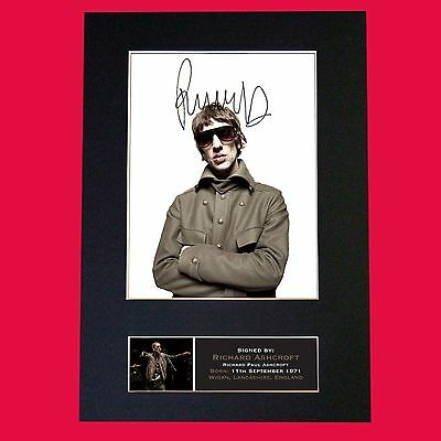 RICHARD ASHCROFT Verve Signed Autograph Mounted Photo Reproduction PRINT A4 657