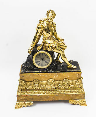 Antique French Ormolu & Bronze  Mantel Clock c.1850