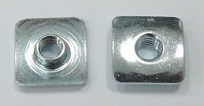 "T-NUT Square Flange Steel Zinc Plated #8-32X0.157""  - 25pcs"