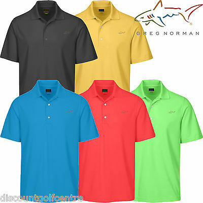 Greg Norman Mens Performance Micro Pique Golf Polo Shirt