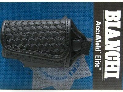 BIANCHI Black 7916 Basketweave ACCUMOLD ELITE Silent Key Holder New! 22119